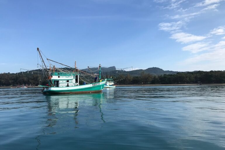 Klong Muang sea coastline
