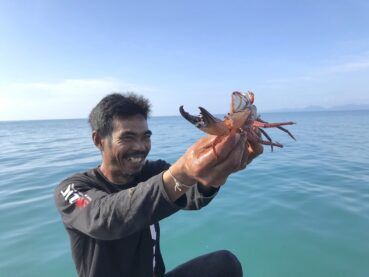 Catching crabs in Krabi