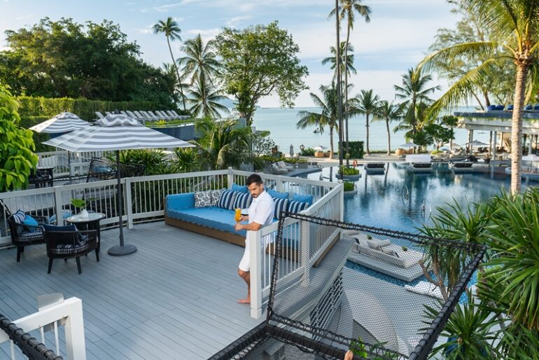 The resort's two-story boat suites made from teak wood merchant vessels that are more than 100 years old