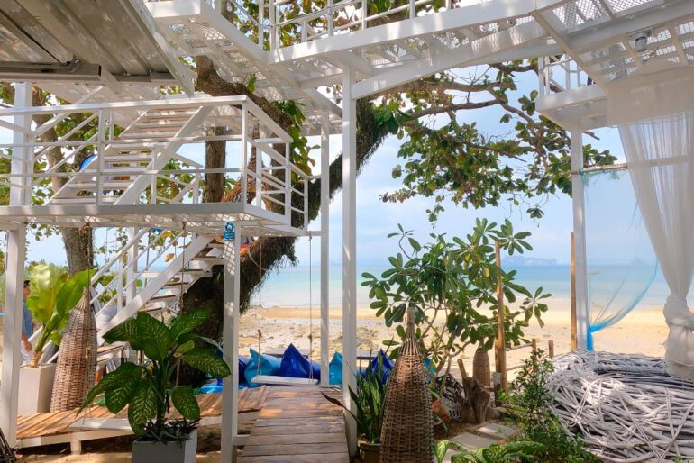 At Baan Tha Ley Café you are right on the beach, literally a step away