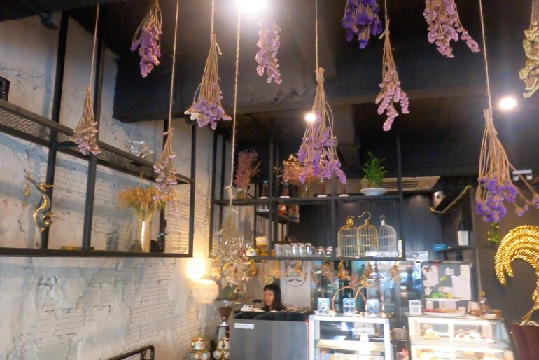 Lavender hanging from the ceiling
