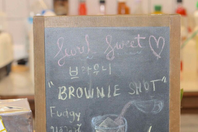 Special signature brownie shot