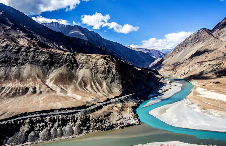 Zanskar River flows to the south of Leh across Hemis National Park and happens to be one of the most perfect places to explore in Kashmir