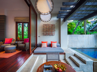The playful Private Pool Suites at The Slate let you step straight into the refreshing water of your own pool